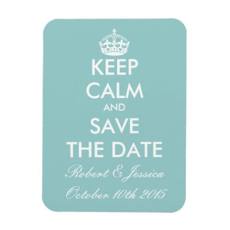 Elegant keep calm save the date magnet for wedding