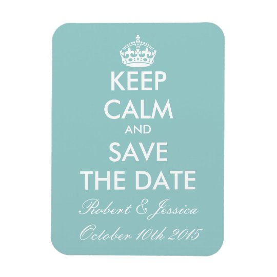 Elegant keep calm save the date magnet for