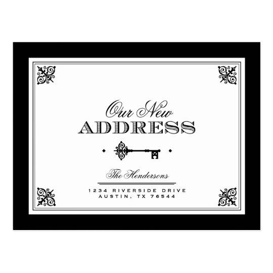Elegant Key Moving Announcement Postcard