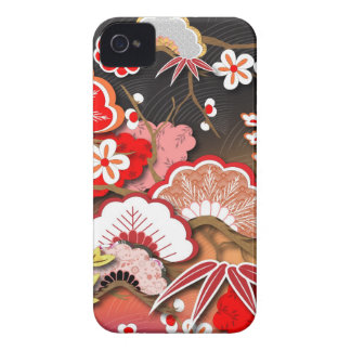 Elegant Kimono - Japanese Design iPhone 4 Covers