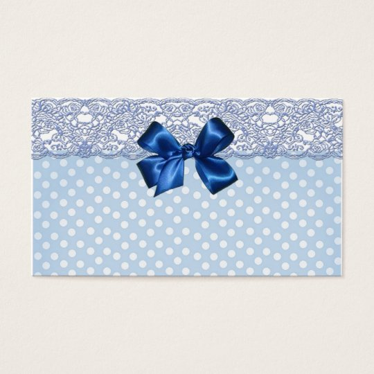 Elegant Lace And Cute Polka Dots Business Card