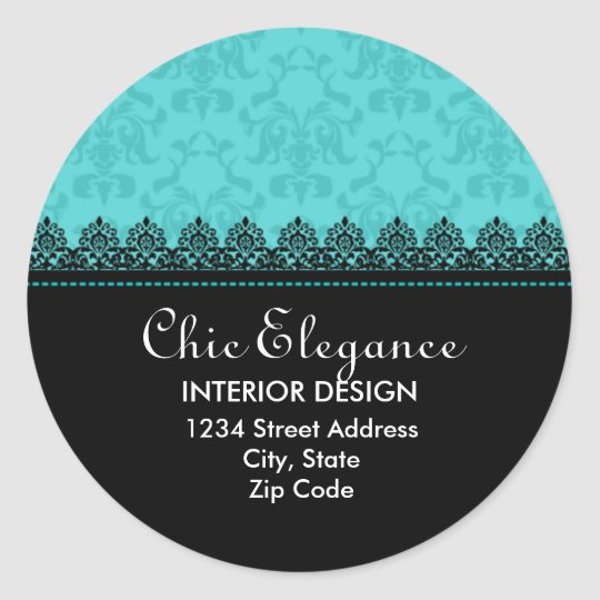 Elegant Lace and Damask Return Address Stickers