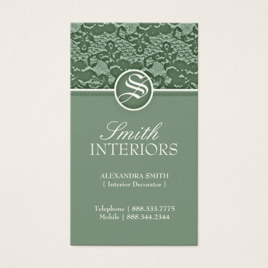 Elegant Lace Business Cards