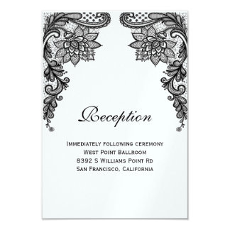 Elegant Lace Reception Card