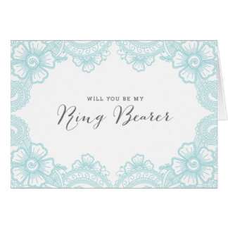 Elegant Lace Ring Bearer Card