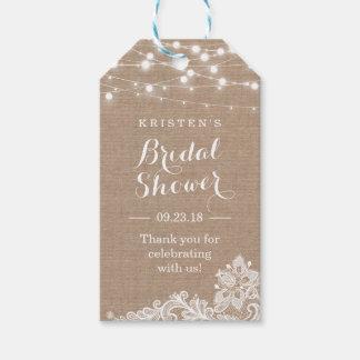Elegant Lace String Lights Bridal Shower Thank You