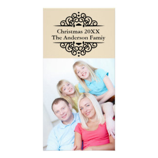 Elegant Lace Vertical Christmas - Photo Card