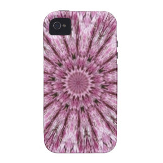 Elegant Lacy Pink Kaleidoscope iPhone 4 Covers