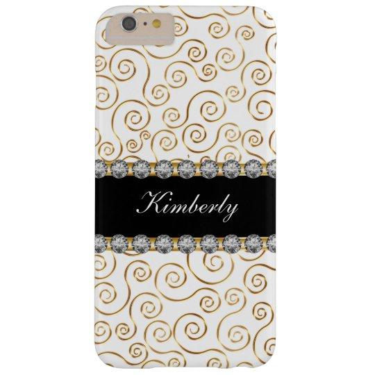 Elegant Ladies Jewel Monogram Barely There iPhone 6