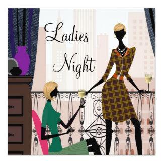 """Elegant Ladies Night Out 5.25"""" Square Invitation Card"""
