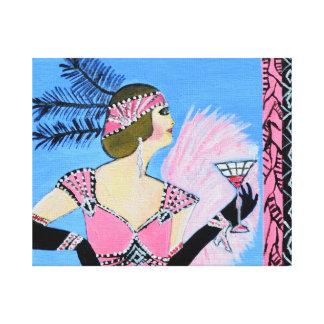 Elegant Lady2 canvas print