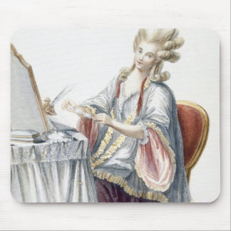 Elegant Lady at her Dressing Table, plate from 'Ga Mouse Pad