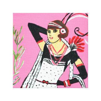 Elegant Lady Canvas Print