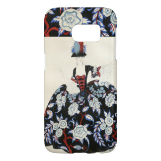 ELEGANT LADY FLORAL DRESS WITH BLACK WHITE FLOWERS