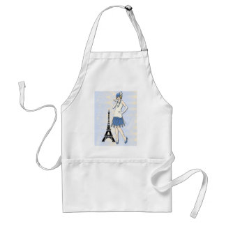 Elegant lady in Paris Standard Apron