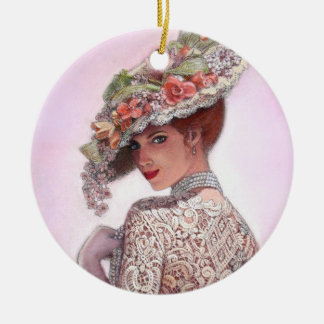 "Elegant lady ""Look of Love"" Christmas Ornament"