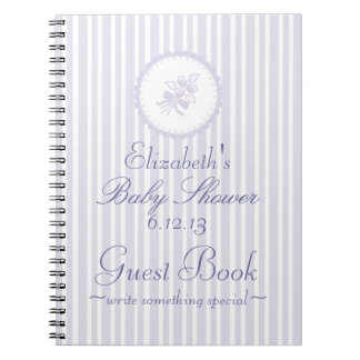 Elegant Lavender Baby Shower Guest Book