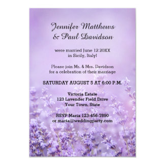 Elegant Lavender Post Wedding Party Invitation