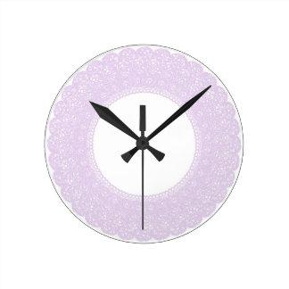 Elegant lavender/purple lace clock