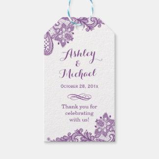 Elegant Lavender Purple Lace Wedding Thank You
