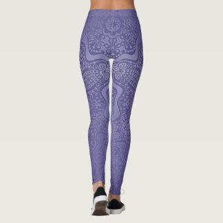 Elegant Lavender Purple Mandala Leggings