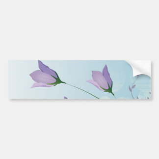 elegant lavender purple tulips design bumper sticker