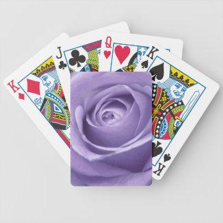 Elegant Lavender Rose Collection Deck Of Cards