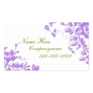 Elegant Lavender Roses Business Card
