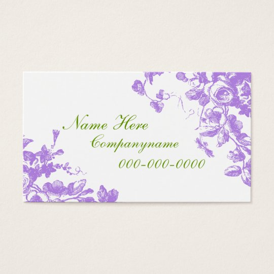 Elegant Lavender Roses Business Card