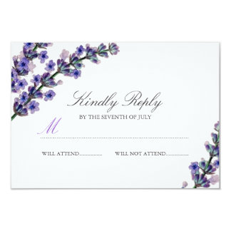 Elegant Lavender Wedding RSVP Card