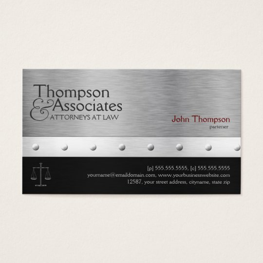Elegant Lawyer / Attorney / Legal Business Card
