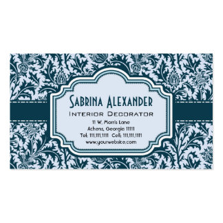 Elegant Leafy Art Nouveau Arts and Crafts Pattern Business Card Templates