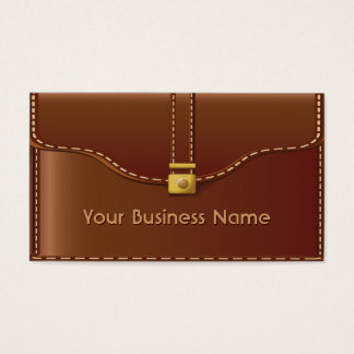 Elegant Leather Bag Style Business Card