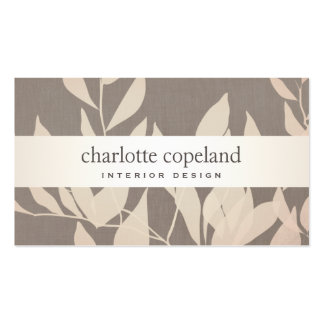 Elegant Leaves Chic Interior Design Taupe Nature Pack Of Standard Business Cards
