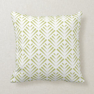 Elegant leaves pattern print pillow