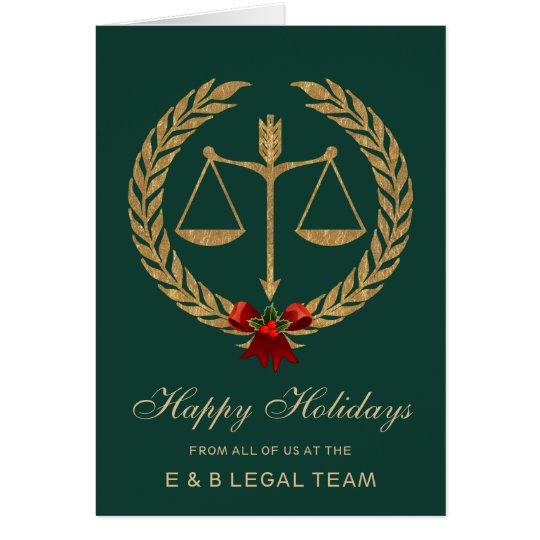 Elegant Legal Industry Holiday Card