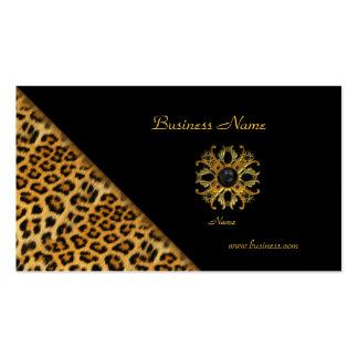 Elegant Leopard Black Gold Pack Of Standard Business Cards
