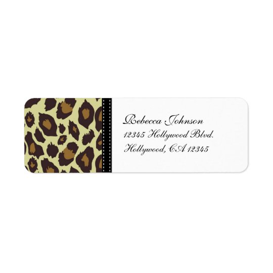 Elegant Leopard Return Labels