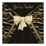 Elegant Leopard Womans Birthday Party Personalised Invitation