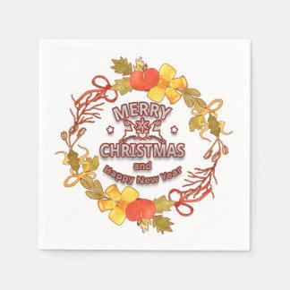 Elegant Lettering Christmas Napkins Paper Napkin