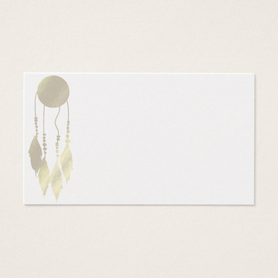Elegant Life Coach Reiki Feather Business Cards