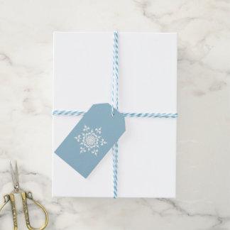 Elegant Light Blue and White Snowflake Gift Tags