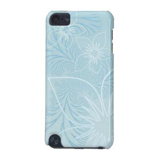 Elegant light Blue Flower Design iPod Touch (5th Generation) Cover