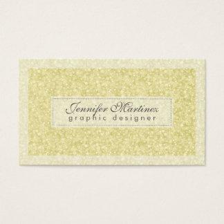 Elegant Light Gold Tones Glitter & Sparkles 2 Business Card