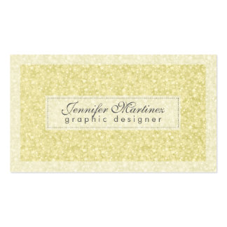 Elegant Light Gold Tones Glitter & Sparkles 2 Pack Of Standard Business Cards