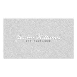 Elegant Light Gray Faux Linen Texture Pack Of Standard Business Cards