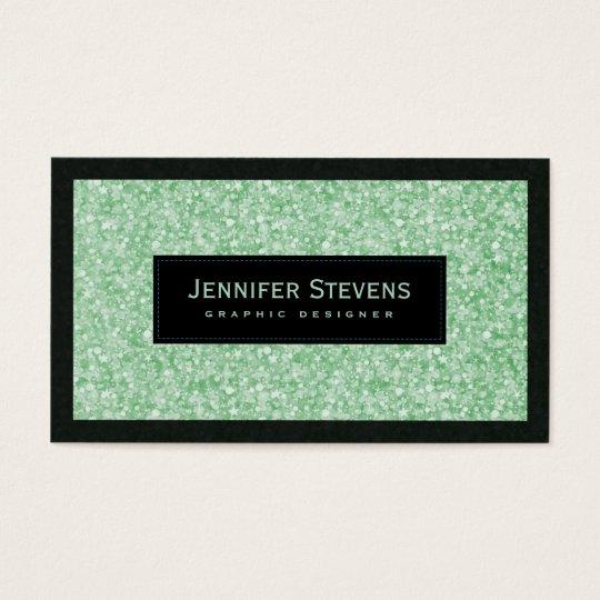 Elegant Light Green Glitter & Sparkles Business Card