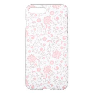 Elegant Light Pink Floral Pattern iPhone 7 Plus Case
