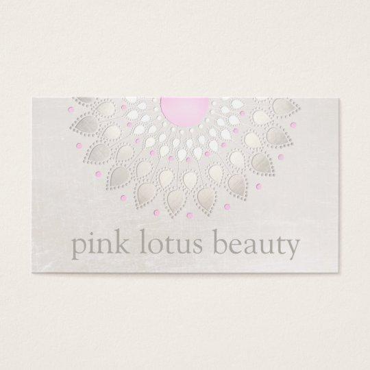 Elegant Light Pink Lotus Flower Business Card