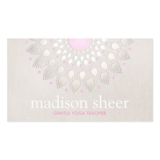 Elegant Light Pink Lotus Flower Pack Of Standard Business Cards